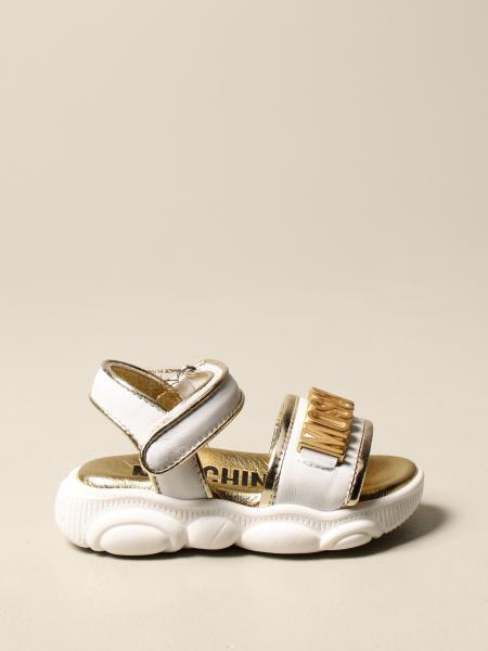Sandalo Moschino Baby in pelle con logo
