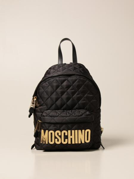 Moschino women: Moschino Couture backpack in quilted nylon