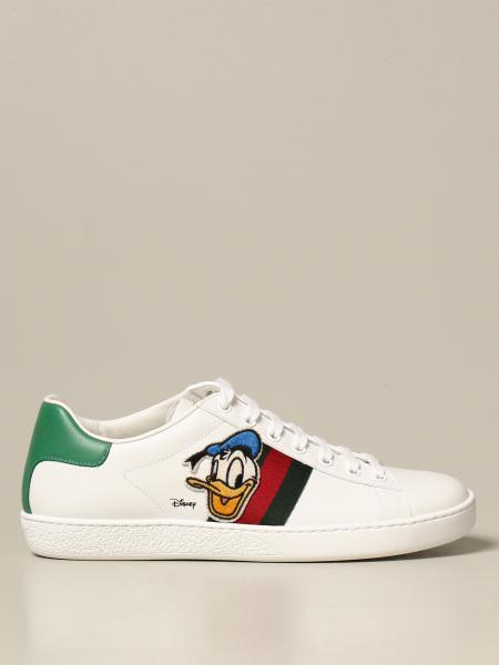 Gucci donna: Sneakers Ace Donald Duck Disney x Gucci in pelle