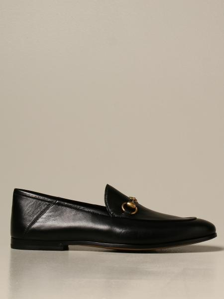 Gucci moccasin in leather with metal clamp