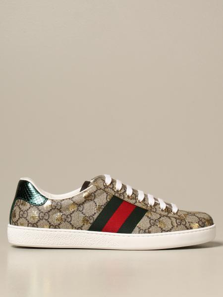 Gucci Ace GG Supreme 面料运动鞋,配以Web织带