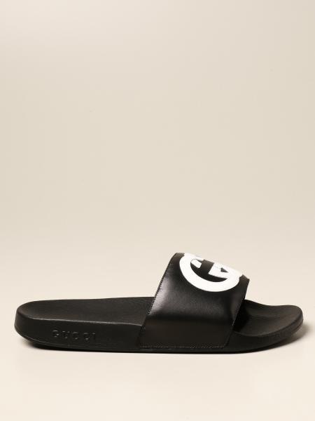 Gucci Slider sandal with GG logo