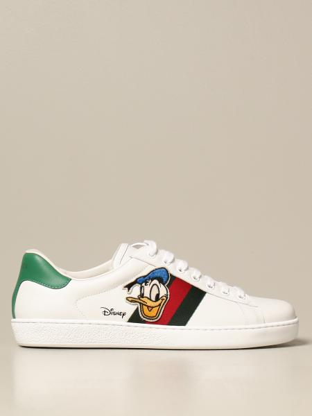 Ace Donald Duck Disney x Gucci 皮革运动鞋