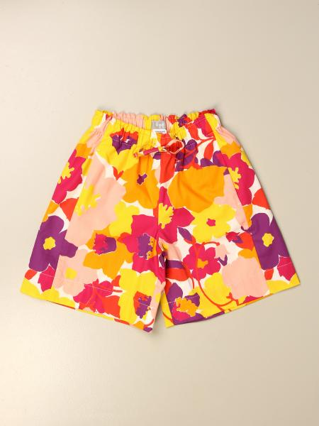 Il Gufo kids: Il Gufo shorts in floral patterned cotton