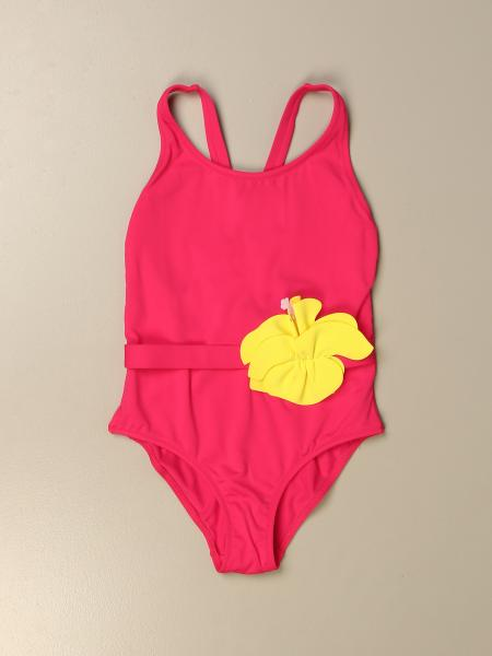 Il Gufo kids: Il Gufo one-piece swimsuit with colored flower