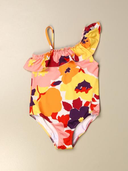 Il Gufo kids: Il Gufo floral patterned one-piece swimsuit