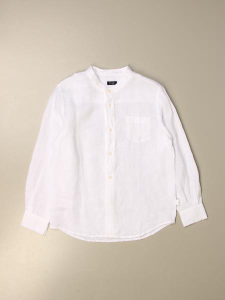 Il Gufo linen shirt with mandarin collar