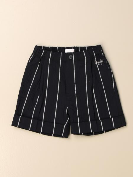 Il Gufo Bermuda shorts in striped cotton