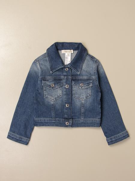 Giacca di jeans Twin-set con logo posteriore