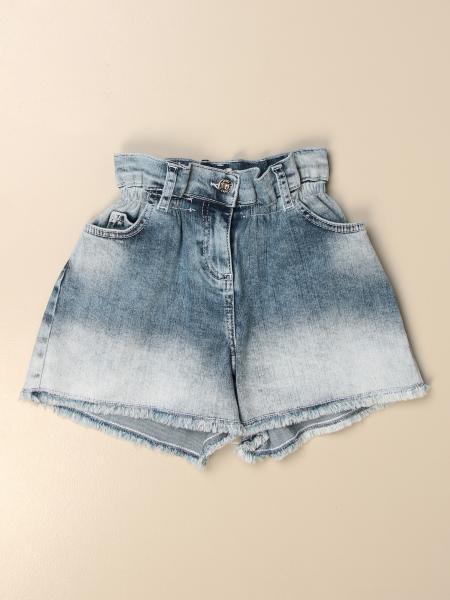 Shorts a vita alta Twin-set in denim used