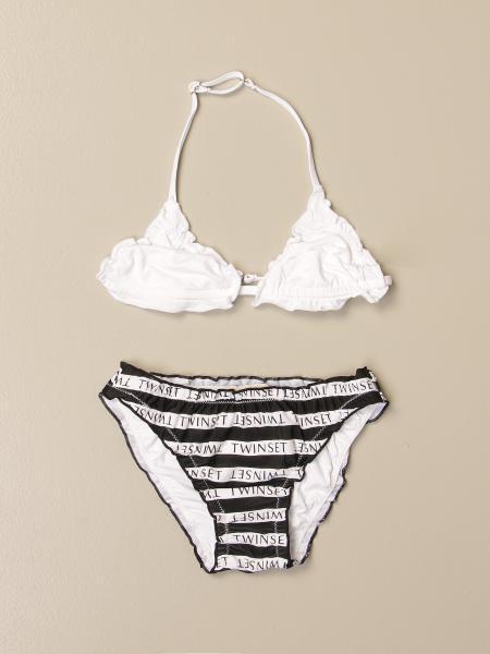 Costume a bikini Twin-set con logo all over