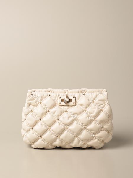 Valentino women: Valentino Garavani SpikeMe bag in quilted nappa leather with studs