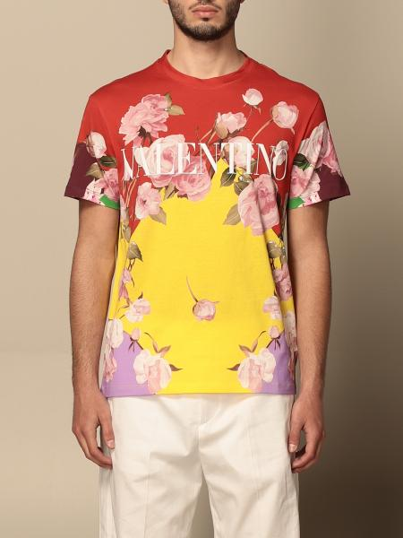 Valentino patterned cotton t-shirt with logo