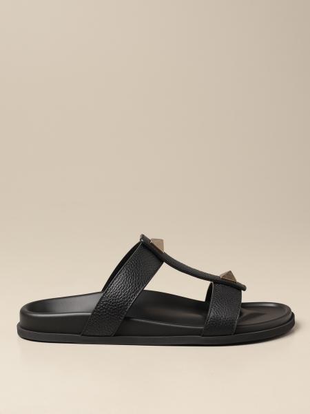 Valentino Garavani Slide sandal in leather with studs