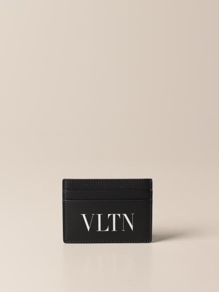Valentino Garavani credit card holder with VLTN print
