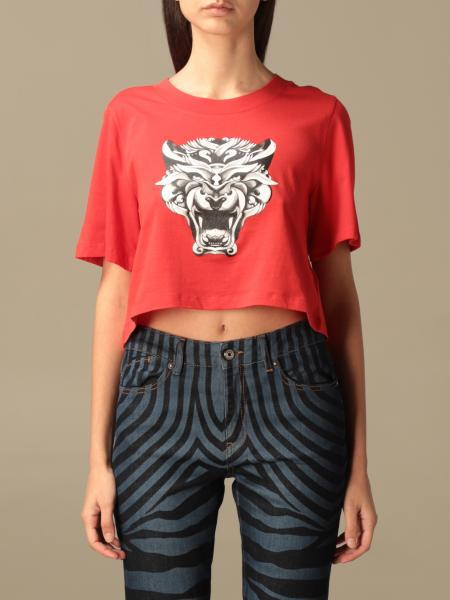 Just Cavalli: Just Cavalli cropped t-shirt with print