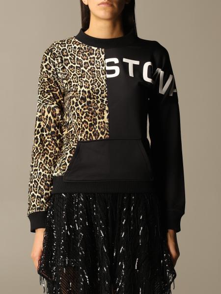Just Cavalli: Just Cavalli crewneck sweatshirt with animalier detail