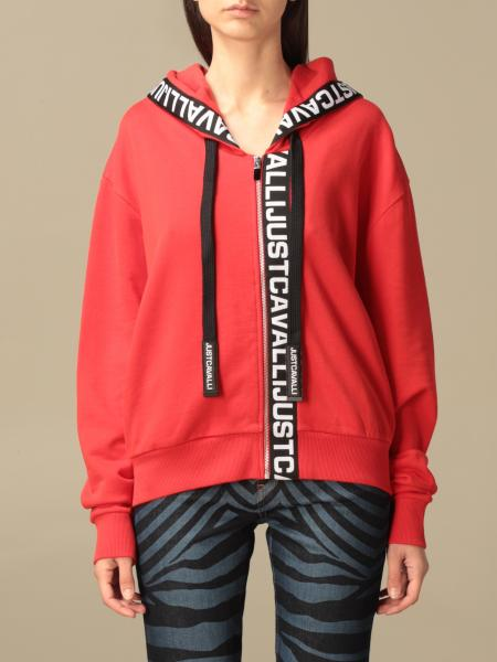 Just Cavalli: Just Cavalli hoodie with logoed bands