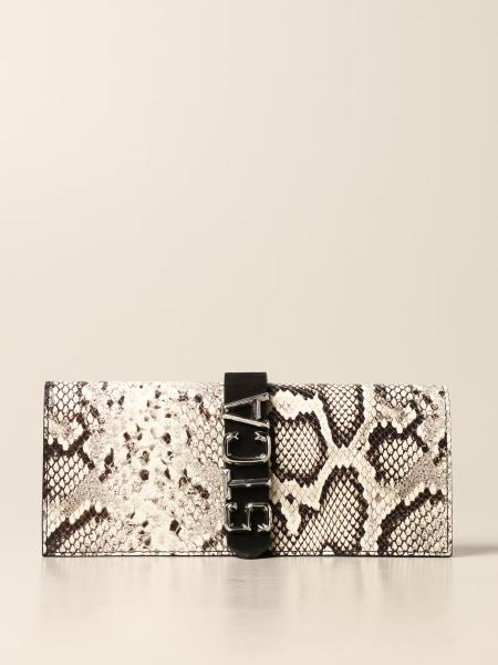 Just Cavalli shoulder bag in leather with python print
