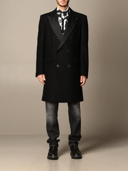Just Cavalli double-breasted coat with satin lapels