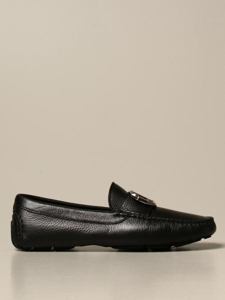 Just Cavalli moccasin in hammered leather