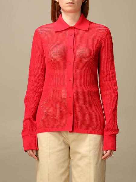 Bottega Veneta 网格布和技术棉质衬衫