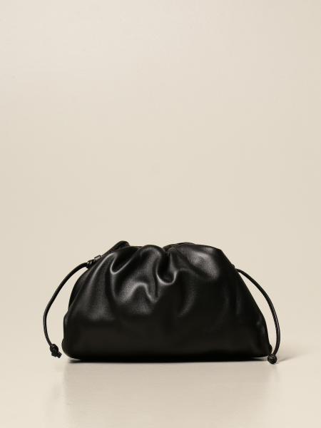 Bottega Veneta women: The mini pouch Bottega Veneta clutch in leather