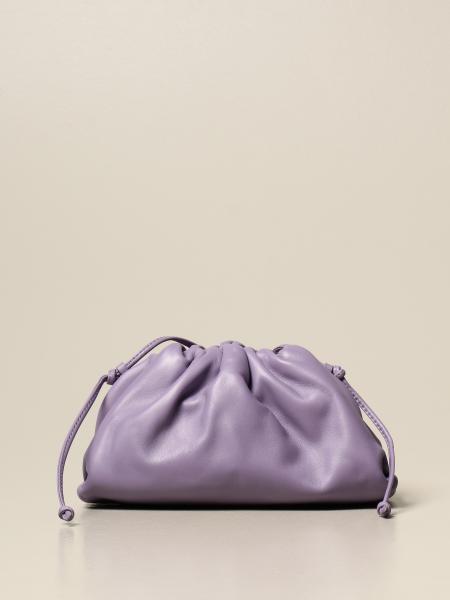 Bottega Veneta: Clutch The mini pouch Bottega Veneta in pelle