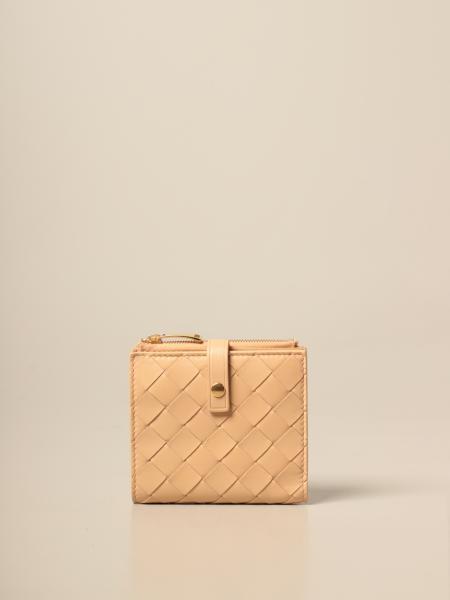 Portafoglio Continental Bottega Veneta in intreccio pelle