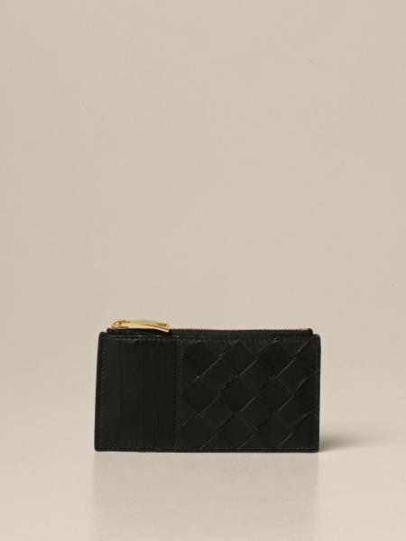 Porta carte di credito Bottega Veneta in nappa intrecciata