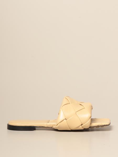 Sandalo flat BV Lido Bottega Veneta in nappa intrecciata