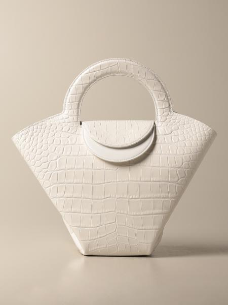 Bottega Veneta women: Bottega Veneta Doll Salon 01 bag in crocodile print leather