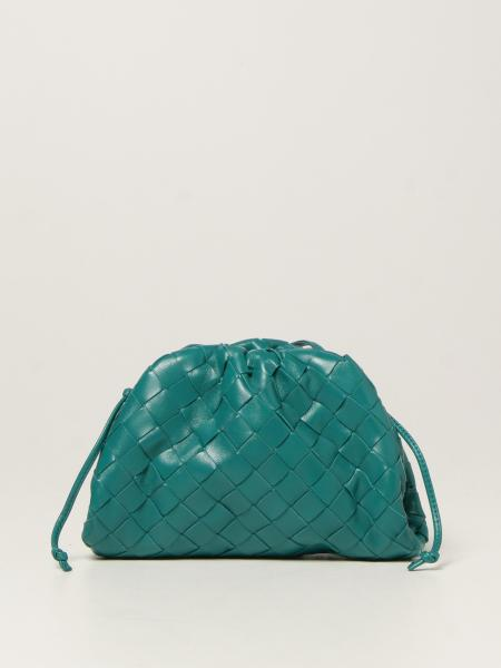Bottega Veneta women: Bottega Veneta mini Salon 01 clutch Pouch in woven leather