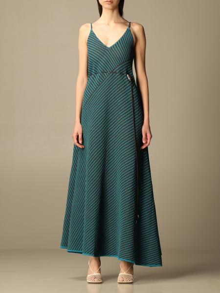 Bottega Veneta women: Salon 01 Bottega Veneta dress in two-tone knit