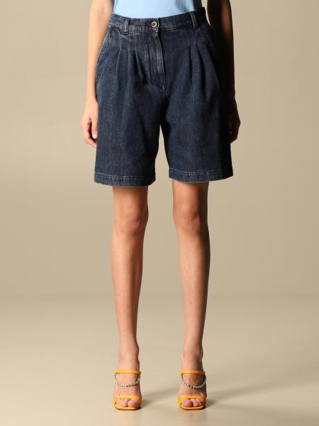 Alberta Ferretti tapered jeans bermuda with high waist
