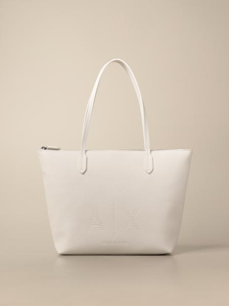 Armani Exchange shoulder bag in synthetic textured leather