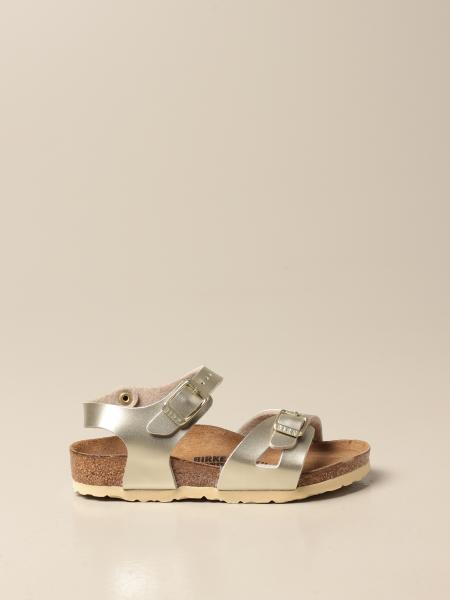 Rio Kids Birkenstock sandals in laminated synthetic leather