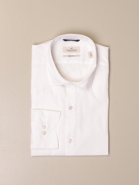 Brooksfield shirt in superfine cotton