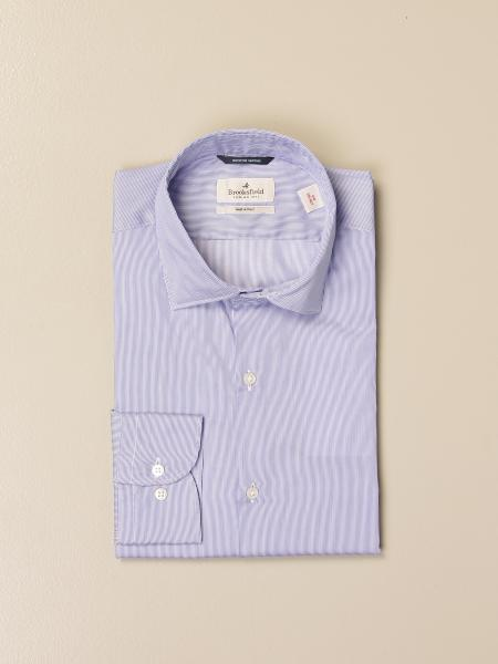 Brooksfield shirt in superfine cotton twill with micro stripes