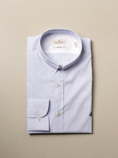 Brooksfield shirt in stretch poplin with button down collar