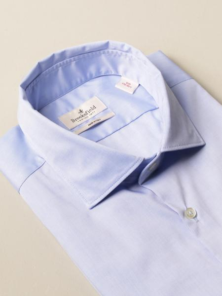 Brooksfield shirt in stretch poplin