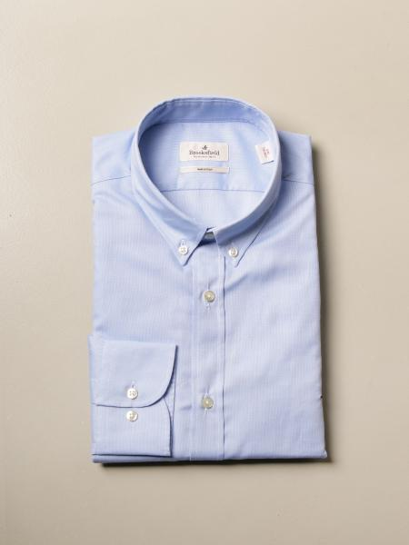 Brooksfield Oxford shirt in poplin with button down collar