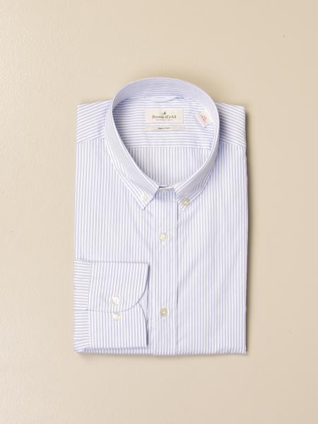 Brooksfield shirt in striped stretch poplin