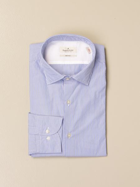 Brooksfield shirt in striped poplin