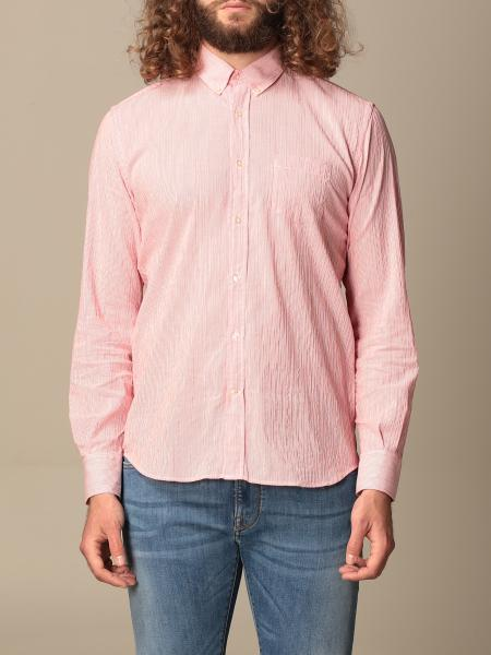 Brooksfield shirt in micro-striped linen