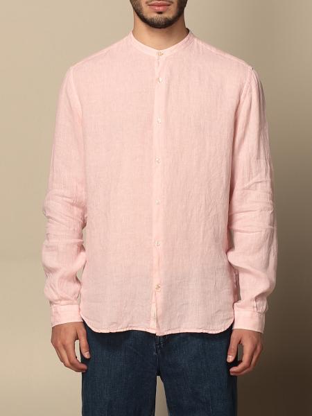 Brooksfield shirt in linen with mandarin collar