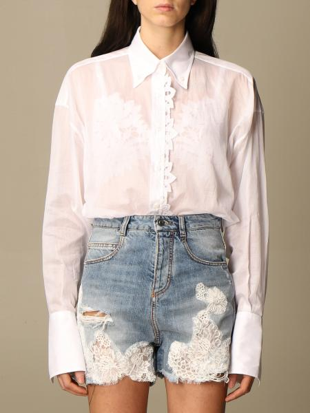 Ermanno Scervino: Ermanno Scervino shirt in cotton with macramé details