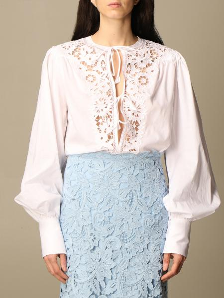 Ermanno Scervino: Ermanno Scervino shirt in cotton and macramé