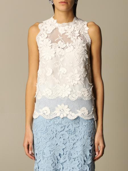 Ermanno Scervino: Ermanno Scervino lace and macramé top