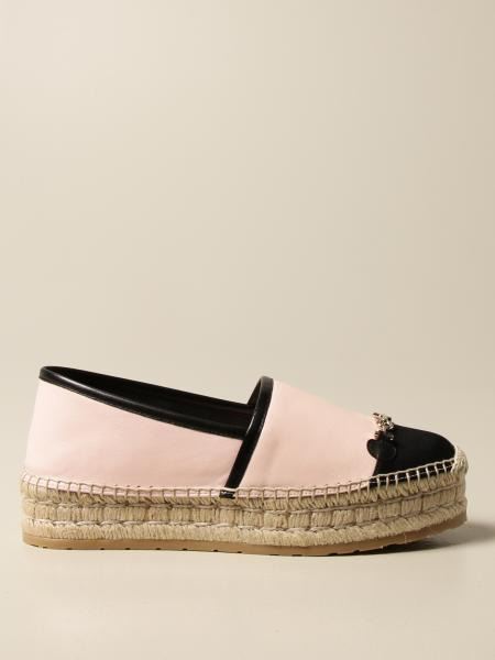 Salvatore Ferragamo espadrilles in leather and canvas with horsebit